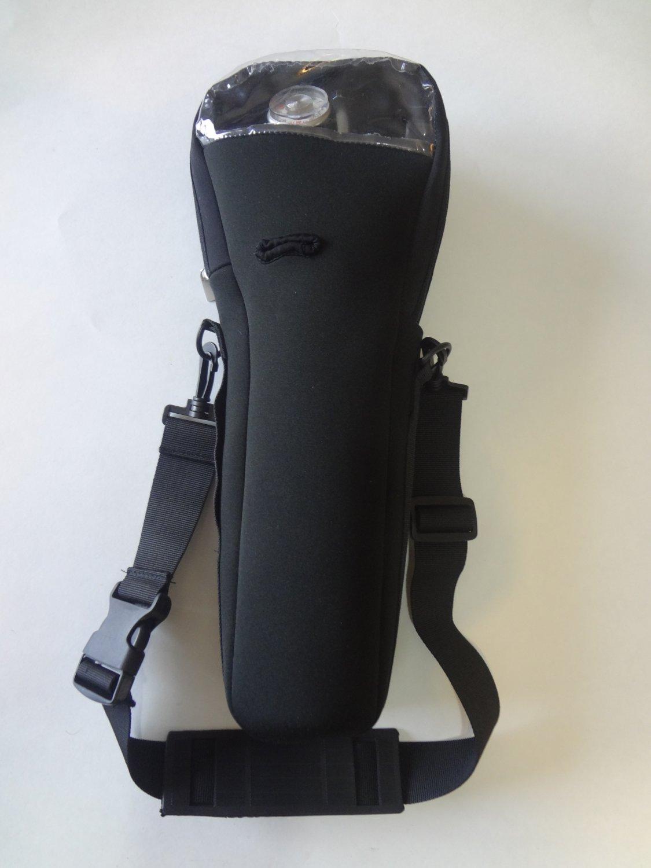 Black oxygen cylinder carrier for B or M-6 cylinders