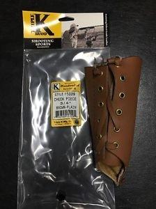 "Triple K #15029 3/4"" rise  Leather / Cheek Piece / Cheek Pad New in Bag"