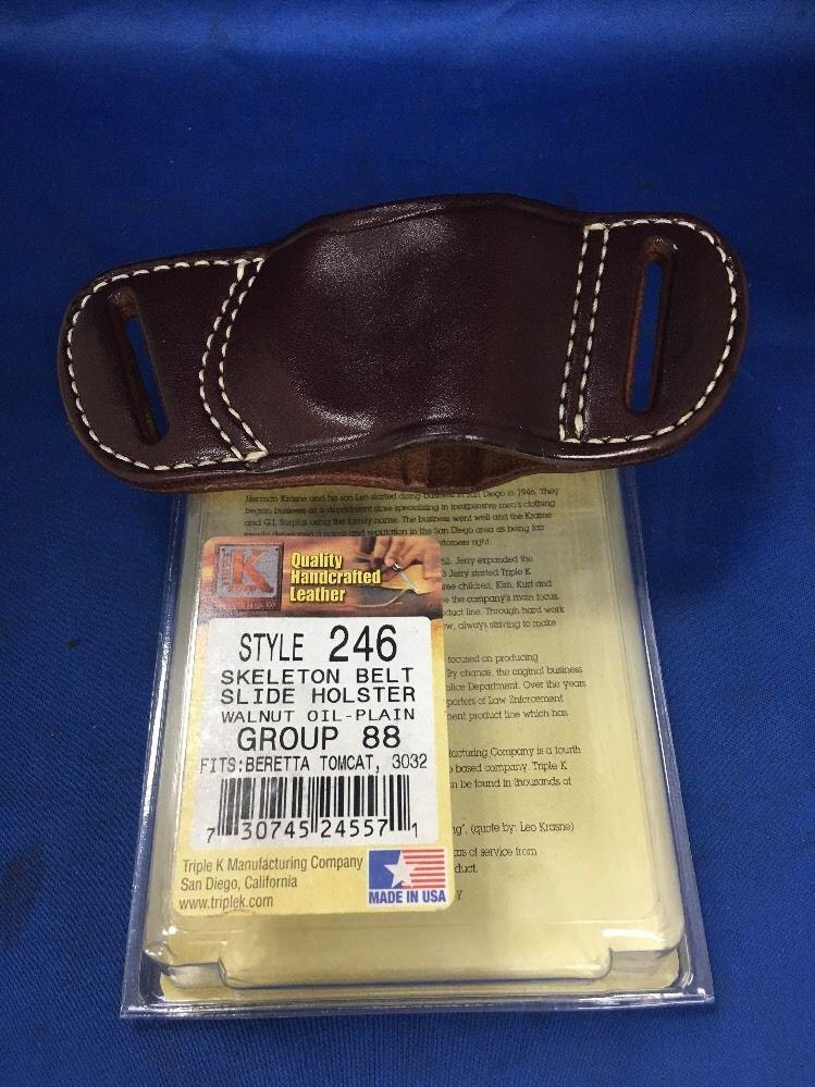 Triple K #246 Belt Slide Holster for BERETTA TOMCAT