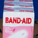 Johnson & Johnson Breast Cancer Awareness Band-Aid Bandages Pink Ribbon 6 Boxes