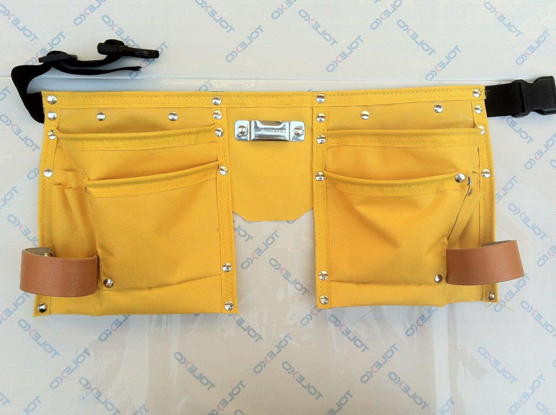 10 Pocket Heavy Duty Yellow Cloth Tool Belt