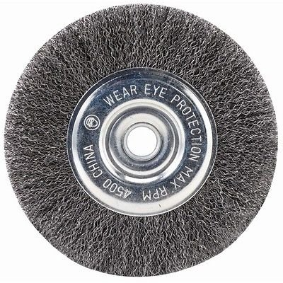 "SIR-G 4"" STEEL WIRE WHEEL BRUSHES FOR BENCH GRINDER"