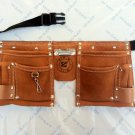 10 Pocket Suede Leather Kids Tool Pouch Bag Belt