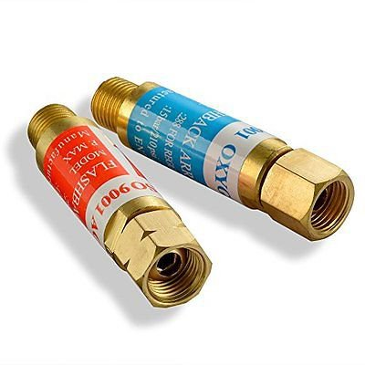 Oxygen/Acetylene FLASHBACK ARRESTOR Set w/check: Torch Welding,