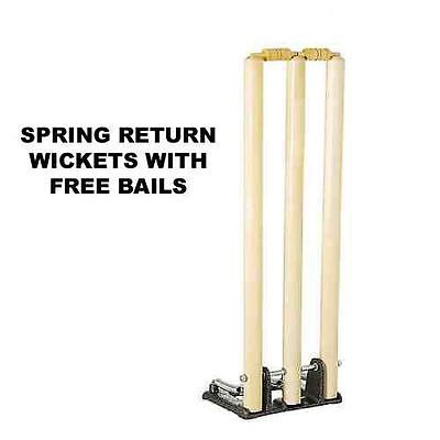 SIR-G Cricket Heavy Duty Spring Loaded Stumps Spring Wickets FREE BALL ONE
