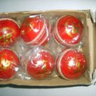 SIR-G, 6,PC Leather Cricket Balls One Box HAND SEWN CRICKET LEATHER BALLS
