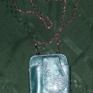 "women $28 wristlet mini 5x3 purse saphire chrome shoulder bag chain to frame 46"""