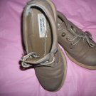 "womens dark beige shoes by Currant Attractions size 7 1/2  1"" soles shoe heal"
