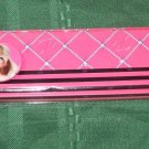 school art Barbie brand crayon pencil & pen case NEW Beautiful 81/2 x21/2x1 inch