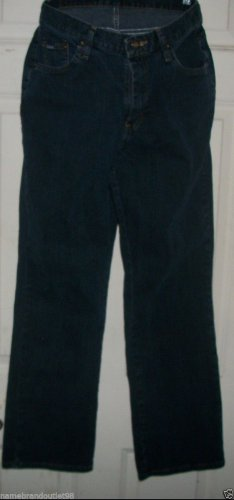 """NEW JEANS size 12 M RIDERS 30"""" ins dark straight leg cotton hip to hip 22"""""""