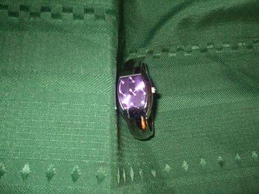 quartz watch Faded Glory purple chrome japan mov't Bezel stainless steel jewelry