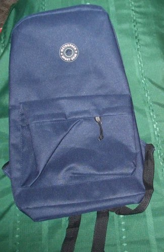 New $35 backpack Navy Blue 12x17x6 Sport Gear outer zip pocket poly book bag