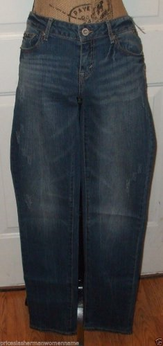 NWT Distress jeans AEROPOSTALE BAYLA Signature SKINNY size 8 low rise bottom