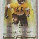 Lamarr Woodley /200 NFL Steeler Raider Do Threads gold Auto rookie football card
