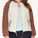 NEW $79 ball style jacket LANE BRYANT soft twill brown 1X plus coat top