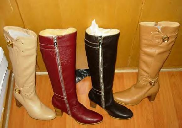 BLACK LEATHER BUCKEL BOOTS CP