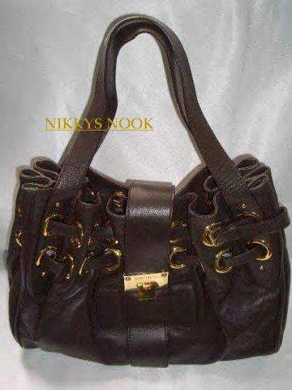 LEATHER RAMONA BAG IN DARK CHOCOLATE