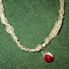 Macrame Necklace w/Clear Bead (MJ009)