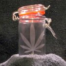 Nug Jug With Marijuana Leaf Etching (EG012)