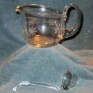 Glass Gravy Boat With Snowflake Etching (EG021)