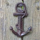 Distressed Nautical Ship Sea Anchor Bottle Opener Cast Iron Shabby Hooks Rust Marine Decor