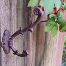 Rustic Weathered Cast Iron Ivy Vine Flower Pot Hook Wall Planter Hanger Plant Holder Rust