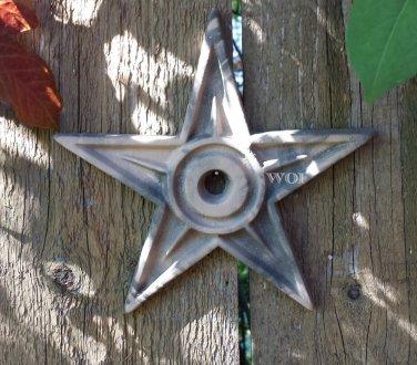 Distressed Metal Camouflage Nail Star Plaque Military Desert Camo Design Home & Garden Decor