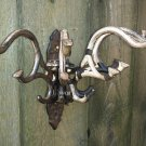 Metal Multi Hook Spider Claw Wall Mount Hanger Pivot Arm Distressed Utility Rack