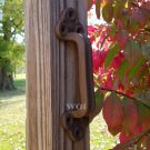 Large Rustic Cast Iron Gate Handle Fence Shed Cabinet Barn Door Pull Metal Grip Hardware