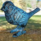 Metal Blue Bird Statue Figurine Art Sculpture Figure Home & Garden Decor Distressed