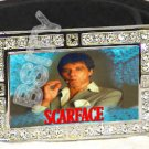 SCARFACE POSTER ICED OUT BLING CZ CHARM BELT BUCKLE