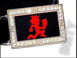ICP HATCHETMAN ICED OUT BLING CZ BELT BUCKLE