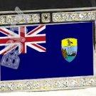 Saint Helenian HELENA FLAG BLING ICED OUT CZ -FREE BELT- BUCKLE