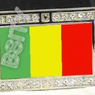 MALI MALIAN FLAG BLING ICED OUT CZ -FREE BELT- BUCKLE