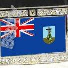 MONTSERRAT FLAG BLING ICED OUT CZ -FREE BELT- BUCKLE