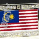 MALAYSIA MALAYSIAN FLAG BLING ICED OUT CZ -FREE BELT- BUCKLE