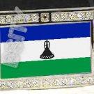 LESOTHO Muso oa FLAG BLING DARK CZ -FREE BELT- BUCKLE