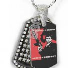 Iced OUT CZ SCARFACE GOOD BAD GUY Dog Tag BLING CHARM PENDANT