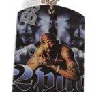 2PAC Tupac RIP PHOTO Dog Tag Charm SILVER #2 FREE CHAIN