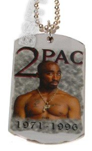 2PAC TUPAC RIP PHOTO PICTURE Dog Tag Dogtag Charm