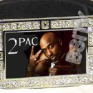 2PAC TUPAC ICED OUT BLING CZ CHARM BELT BUCKLE