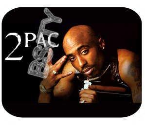 2PAC TUPAC SHAKUR RIP BLACK Photo Mousepad MOUSE PAD