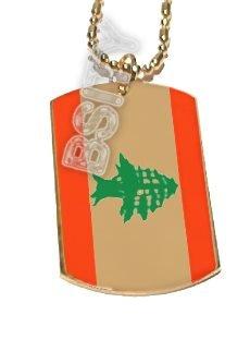 LEBANON LEBANESE FLAG GOLD Dog Tag Dogtag CharM