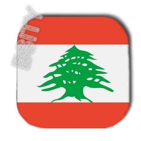 LEBANON Lebanese Republic FLAG FULL COLOR SET OF 4 COASTERS
