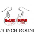 MCCAIN PRESIDENT PHOTO FISH HOOK CHARM Earrings #2