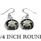 PUG DOG ADORABLE PHOTO FISH HOOK CHARM Earrings