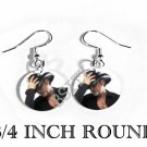 TIM MCGRAW PHOTO FISH HOOK CHARM Earrings
