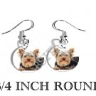 YORKIE YORKSHIRE PHOTO FISH HOOK CHARM Earrings