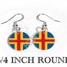 AALAND ALAND ISLANDS Flag FISH HOOK CHARM Earrings
