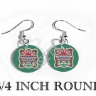 ABENAKI NATIVE INDIAN Flag FISH HOOK CHARM Earrings